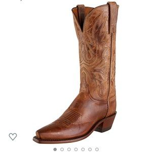 1883 by Lucchese Cowboy Boots brown embroidered